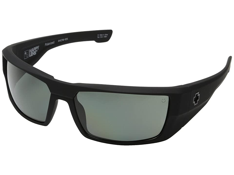 Spy Optic Dirk (Soft Matte Black/Happy Gray Green Polar) Sport Sunglasses