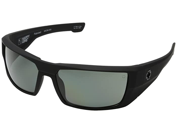 Spy Optic Dirk (Soft Matte Black HD Plus Gray Green Polar) Sport Sunglasses