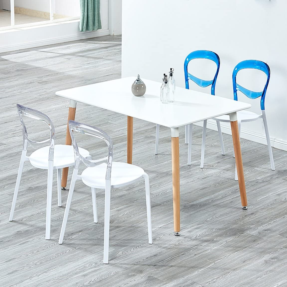 HLQW Chaise de loisirs nordique moderne Rouge Bleu