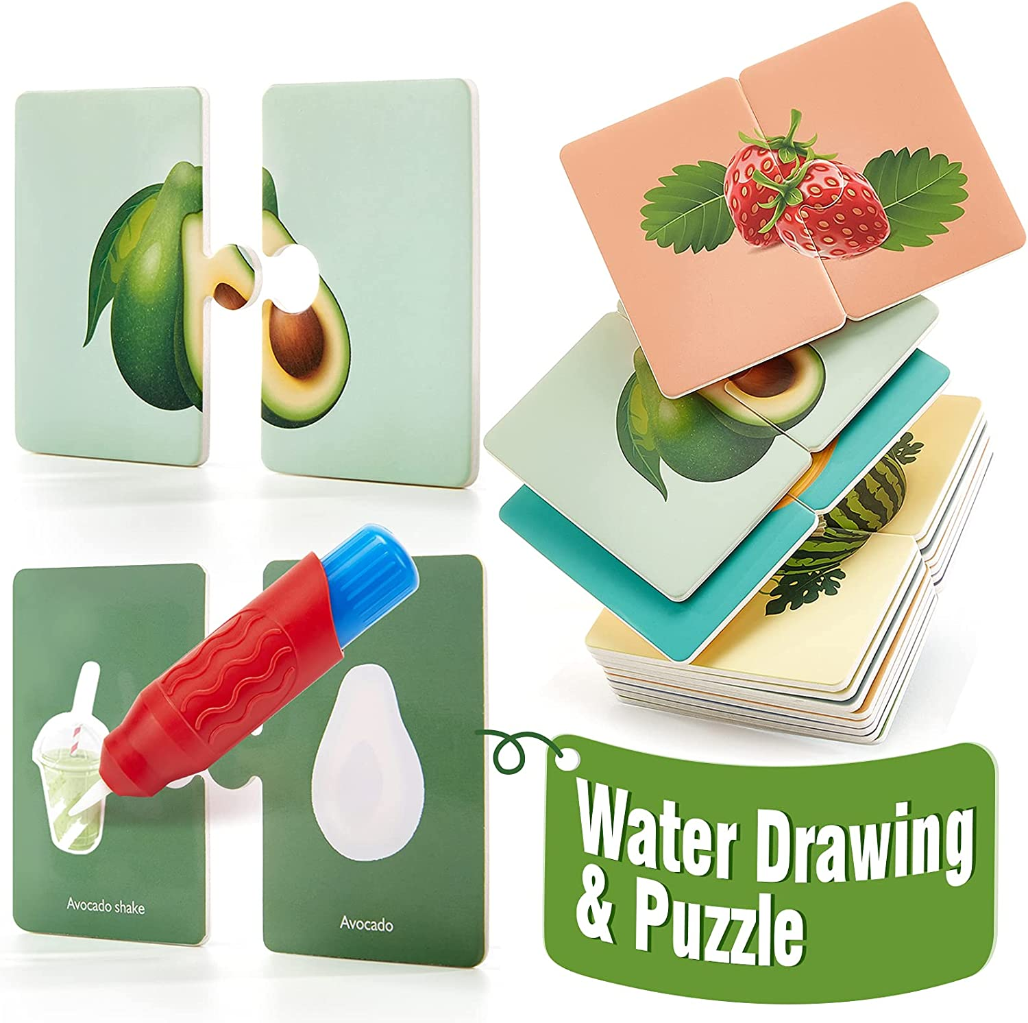 Toddler Puzzle and Paint with Water 2 Selling rankings Flash shipfree 1 in Dra Cards