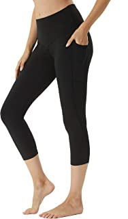 BEGIANT Women's Yoga Workout Capris Leggings with Pockets High Waist Tummy Control Running Pants Non-See Through Tights