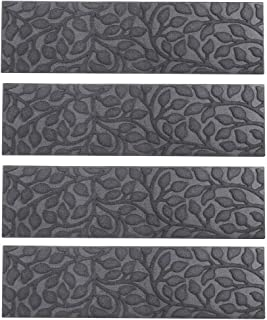Comme Rug Stair Treads with Rubber Backing,Non-Slip,Indoor Outdoor Step treads Waterhog,Set of 6, Grey,8.5