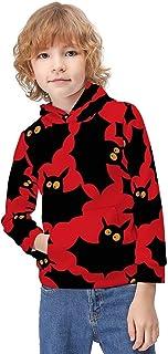 Kid's Novelty Sweater Shark Seamless Hoodie Teen's Long Sleeve Sportswear Fleece Hood Pullover-