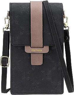 JOSEKO Handy Tasche Frauen, Damen Handy Schultertasche Umhängetasche Damen Solid PU Leder Clutch Bag Kartentasche Phone Ba...