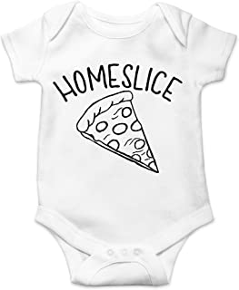 Homeslice - Funny Hipster Homeshower Unisex Baby Cotton Bodysuit - Infant One-Piece Romper Outfit