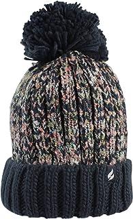 Heat Holders Eidda Thermal Textured Twist Pom Pom Beanie Hat