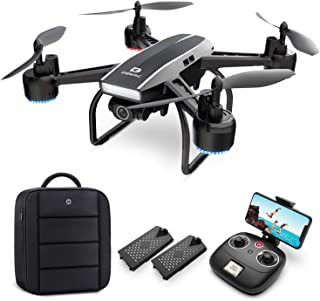 DEERC Drone with Camera for Adults 2K Ultra HD FPV Live Video 120° Wide Angle, Altitude Hold,...