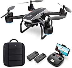 DEERC Drone with Camera for Adults 1080p Full HD FPV Live Video 120° Wide Angle, Altitude Hold, Headless Mode, Gesture Sel...