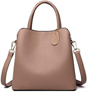 Ladies Handbags Shoulder Bags With Zipped Compart Mentswomens Leather Handbag, Office Bag Lady For Work Travel Shopping Wo...