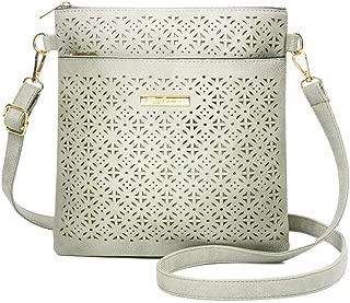 Duketea Medium Crossbody Purse for Women, Triple Zipper Crossover Shoulder Bag