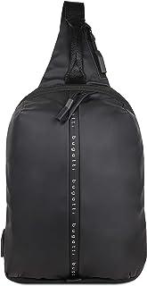 bugatti Blanc Sling Bag Herren - Crossbag Sportliche Brusttasche für Männer - Crossbody Crossover Tasche, Schwarz
