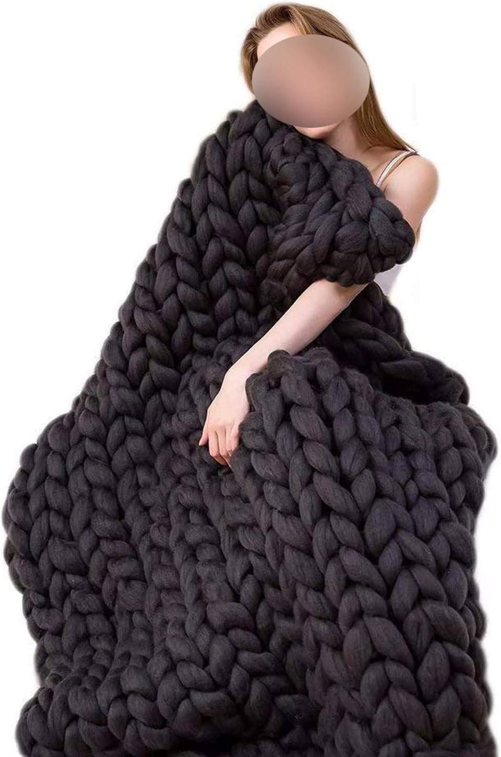QWERTYUKJ Chunky unisex Knit Blanket Throw Handmade depot Ready Gift Packagin