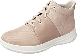 FitFlop Womens Sporty-Pop X High-Top Lizard Print Sneakers,Nude Pink,9