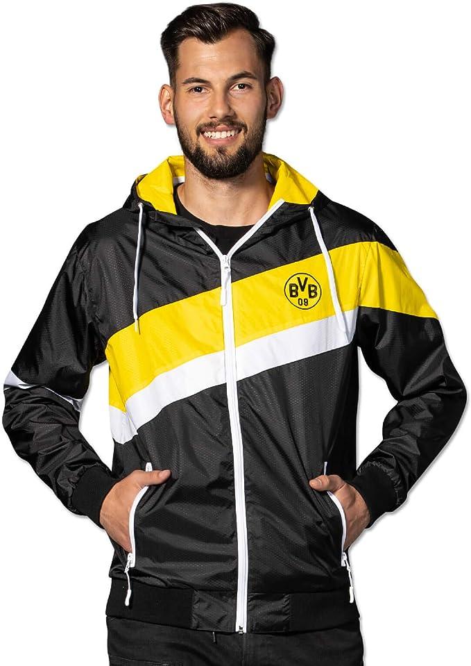 Borussia Dortmund - Giacca a vento BVB, colore nero
