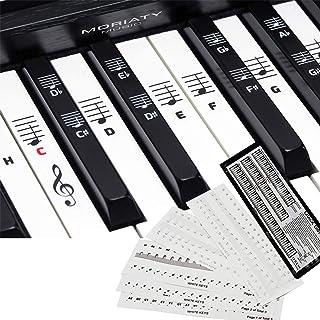 [2-pack] piano + étiquette de partition de clavier, utilisé pour les autocollants avec 49. 61. 76. 88 pianos à touches, au...