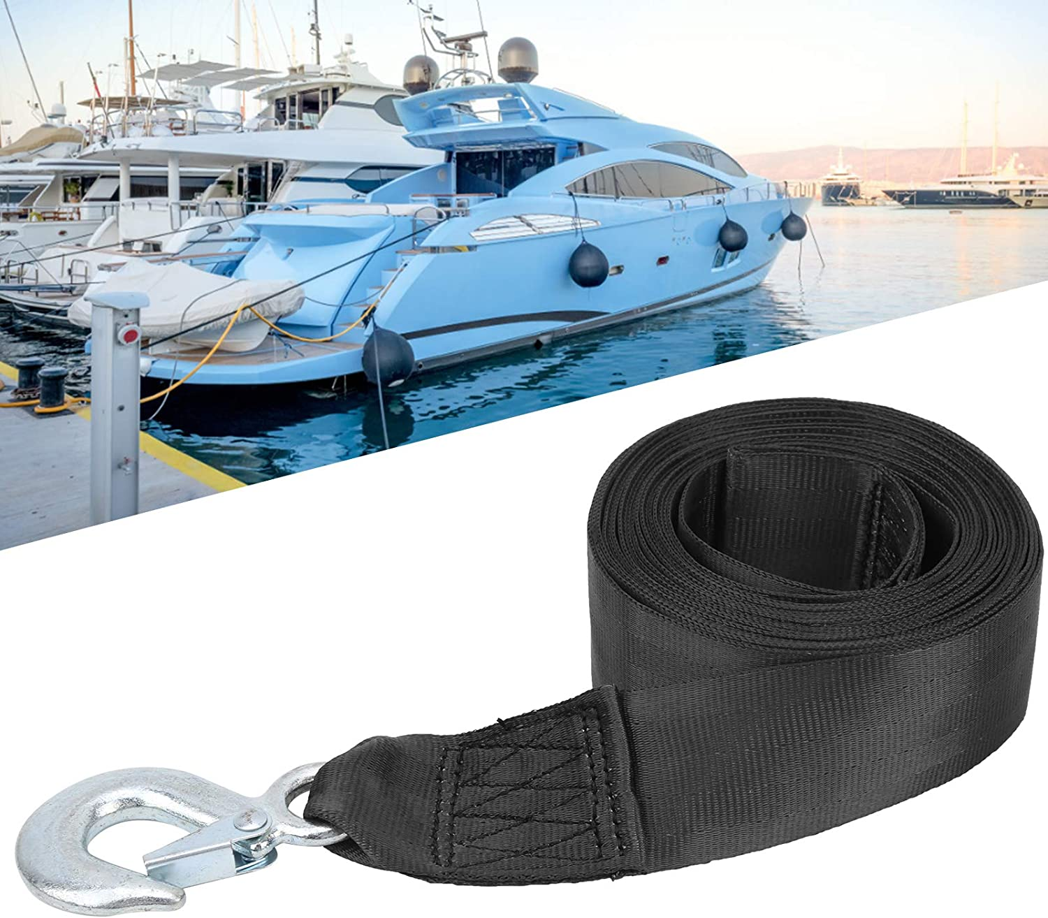 01 Chicago Mall Polyester Boat Winch Repla Strap Hook with Mail order