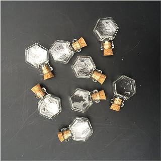 YANGYANG Allenzhang Hexagon Bouteilles de Verre Pendentifs Petits Bouteilles de souhaits avec bocaux Transparents de liège...