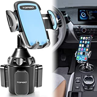 Car-Cup-Holder-Phone-Mount Adjustable Pole Automobile Cup Holder Smart Phone Cradle Car Mount for iPhone 11 Pro/XR/XS Max/X/8/7 Plus/6s/Samsung S10 /Note 9/S8 Plus/S7 Edge(Blue, 11 inch)