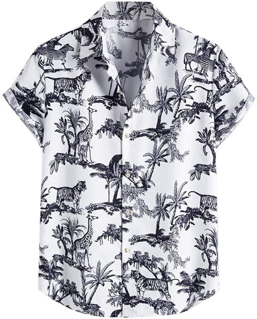 Houston Mall Max 80% OFF FIN86 Men's Fashion Casual Blouse Mens Slee Short Ethnic