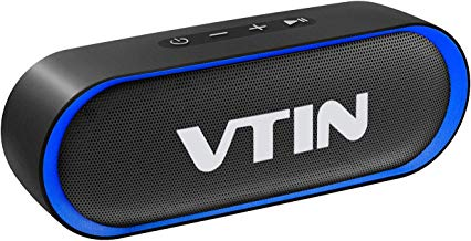 VTIN R4 Cassa Bluetooth 10W Altoparlanti 24 Ore Playtime,Bluetooth 5.0 Speaker Portatile Connessione Stabile,Batteria Forte,Impermeabile IPX5,Microfono per Vivavoce,Supporto TF Carda e 3.5mm Audio