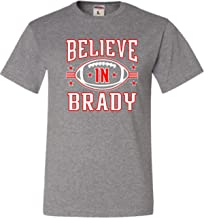 Go All Out Adult Believe in Brady Football T-Shirt