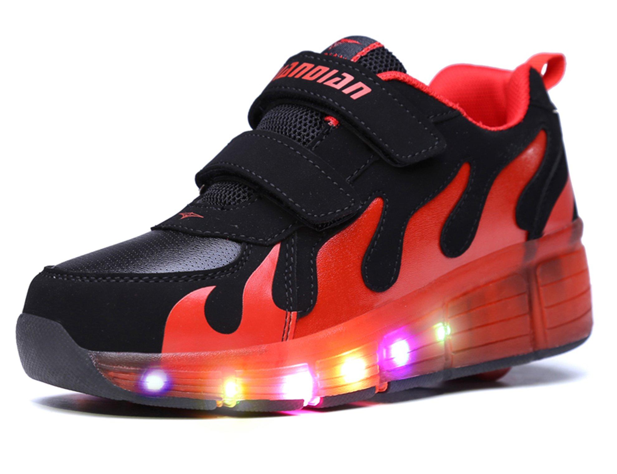 Mr.ANG luces LED parpadeantes Roller Skates – Zapatos de deporte Niños Chicos Y Chicas – Zapatos de