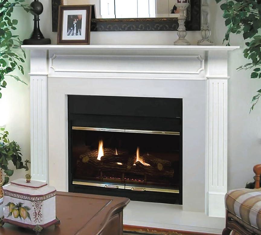 極めて登山家リーPearl Mantels 520-48 Berkley 暖炉用マントルピース 48インチ 下地塗装済み ホワイト