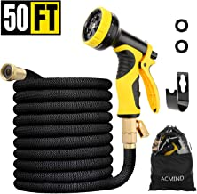 Acmind 50FT Expandable Garden Hose, Extra Strength Fabric and Double Latex Core Water Hose, 3/4