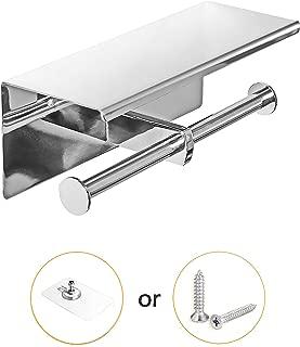 tissue holder with shelf