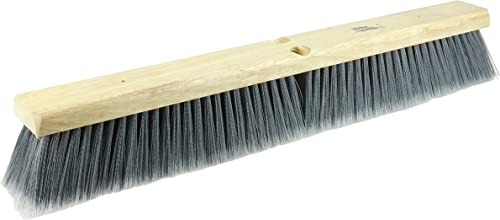 "Weiler 42042 24"" Fine Sweep Floor Brush, Flagged Silver Polystyrene Fill"