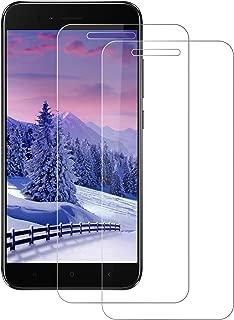 DOSNTO 2 Unidades Cristal Templado Xiaomi Mi A1/5X,[0.3mm] Protector Pantalla Xiaomi Mi A1 [Sin Burbujas] [Anti-Arañazos] [Dureza 9H] [Anti-Huella]-Compatible con Xiaomi Mi A1/5X [Transparente]