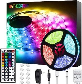 Bathebright LED Strip Lights 16.4ft RGB LED Light Strip...