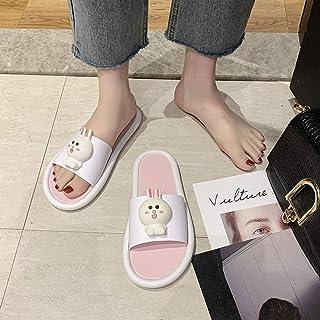 B/H Unisex Flip Flops,Mute cartoon sandals with soft sole, non-slip slippers for bathing-Pink_UK5.5-UK6,Men's Flip Flops M...