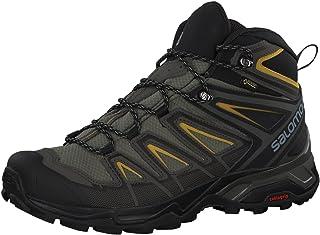 mens X Ultra 3 Mid Gtx Hiking, Castor Gray/Black/Green...