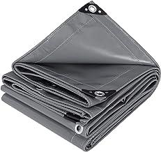 WOLTU GZ1222dgr01 Dekzeil bescherming PVC zeildoek 500 g/m²,Afdekzeil waterbestendig,UV-bestendig en zon bescherming,2x3m ...