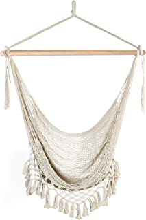 Chihee Hammock Chair Super Large Hanging Chair Soft-Spun Cotton Rope Weaving Chair,..
