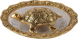Aatm Brass Handicraft Statue Plate with Tortoise Best Use for Home Decoration Diwali Gift