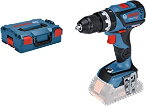 Bosch Professional 18V System GSB 18V-60 C - Taladro percutor a batería (60 Nm, 1900 rpm, conectable, sin batería, en L-BOXX)