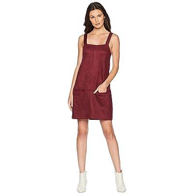Jack by BB Dakota May Day Faux Suede Scuba Dress (Cranberry) Women