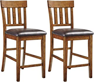 Signature Design by Ashley Ralene Counter Height Bar Stool, Medium Brown