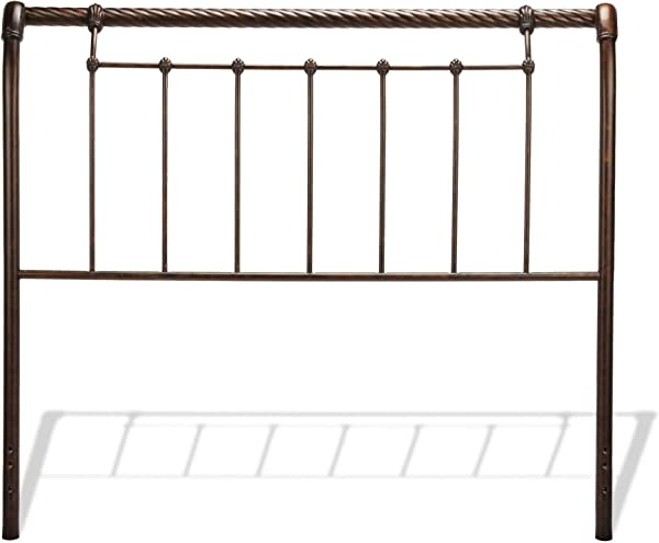 Leggett Platt Legion Metal Sleigh Styled Headboard Panel With Twisted Rope Top Rail Ancient Gold Finish King