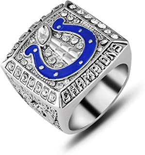 Jiustars 2006 Indianapolis Colts Championship Ring Men's Souvenir Super Bowl XLI Championship Replica Ring Size 9-12