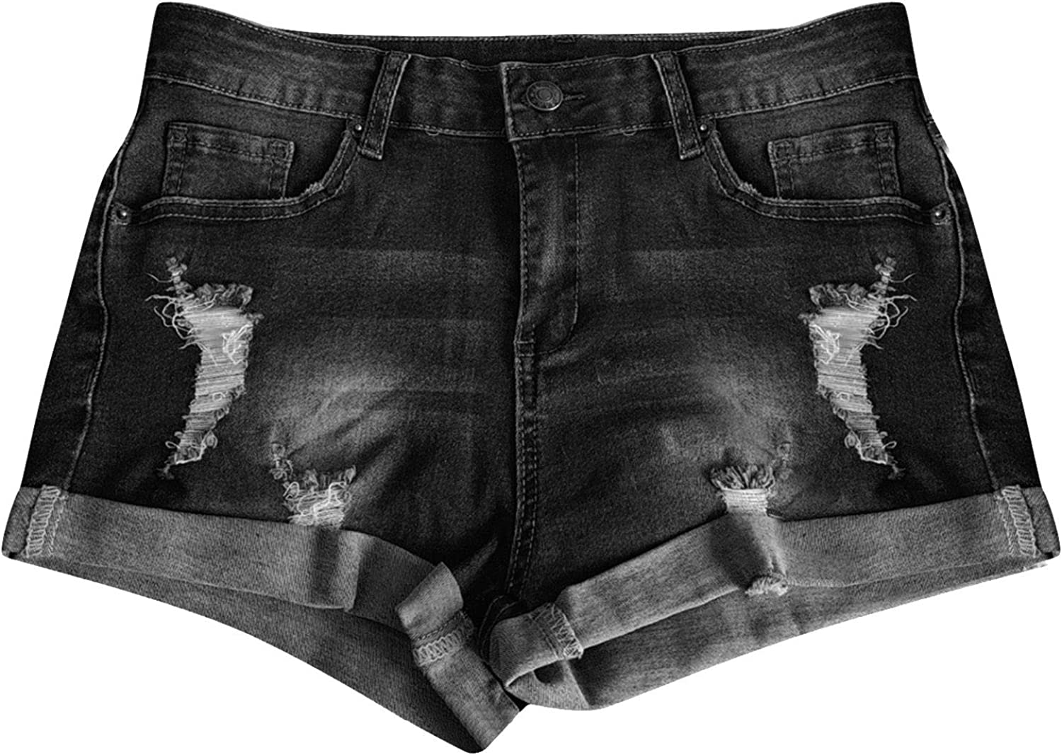 ForestYashe Women Summer Pants Sexy Jeans High Waist Slim Hole Shorts Pants