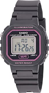 Casio Women'S Grey Dial Resin Band Watch La 20Wh 8Aef, Quartz, Digital