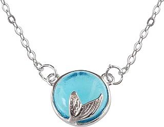 Hiqmic WK99044 - Collar con colgante de cola de sirena, plata de ley 925, regalo de joyería de moda, 40,6 a 45,7 cm