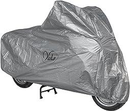 Telo Copri Moto Scooter Naked Customo Impermeabile PVC Universale Argento Nero