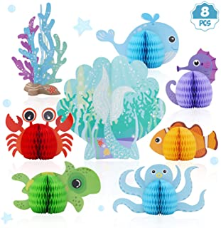 Distaratie Mermaid Centerpieces - Under The Sea Honeycomb Party Supplies - Ocean Themed Birthday Decorations for Baby Show...