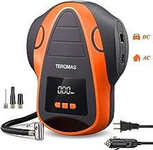 TEROMAS Tire Inflator Air Compressor, Portable DC/AC Air Pump for Car Tires 12V DC and..
