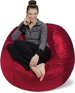 Sofa Sack - Plush, Ultra Soft Bean Bag Chair - Memory Foam Bean Bag Chair with Microsuede Cover - Stuffed Foam Filled Furniture and Accessories for Dorm Room - Cinnabar 4'