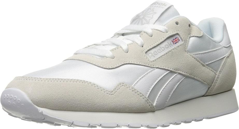Reebok Hommes's Royal Nylon en marchant chaussures, blanc Steel, 8.5 M US